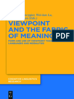 Viewpoint and the Fabric of Meaning - Form and Use of Viewpoint Tools Across Languages and Modalities