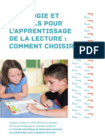 L'étude du conseil scientifique de l'Education nationale sur les ouvrages destinés à l'apprentissage de la lecture
