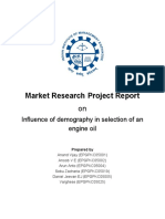 Market Research Projct Report