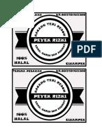 Print Label Peyek