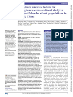 2109 - Prevalence and Risk Factors for Pterygium