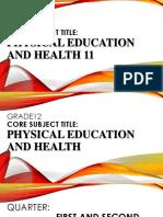 PE and Health 11