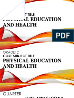 PE and Health 12