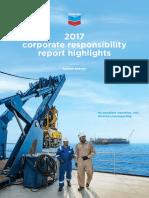 Chevron Corporate Responsibility Report in 2017