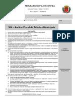 Prova Auditor Fiscal - Curitiba