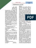 textos de COMPRENSIÓN LECTORA - 3°
