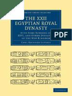The Xxii Egyptian Royal Dynasty eBook