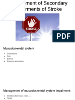 Physiotherapy Management of Secondary Impairments in Patients with Stroke