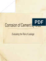 Corrosion of Cement by CO2