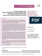 Evaluation of Locallyavailable Agroindustrialbyproducts as Partial Replacementsto Fishmeal in Diets for Nile Tilapiaoreochromis Ni