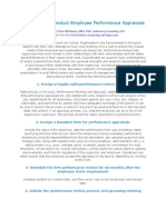 Guidelines to Conduct Employee Performance Appraisals