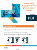 Comparação Entre Textos Análise de Itens Do ENEM Com Foco Em Forma, Habilidade e Conteúdo