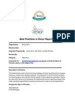 Best Practices in Donor Reporting