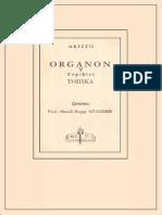 Aristoteles - Organon 5 Topikler