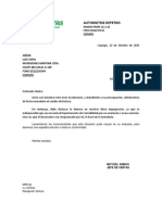 Carta Respuesta Devolución