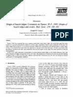 """Origin of Beach Ridges and Swales"