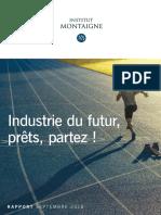 Industrie Du Futur - Prêts, Partez_Rapport Sept. 2018_Institut Montaigne-BCG