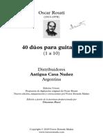 Oscar Rosati - 40 Dúos Para Guitarra (1 a 10)