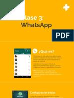 Clase 3 - WhatsApp