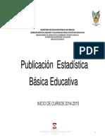 Publicacion Estadistica Educativa Inicio Cursos 2014-2015