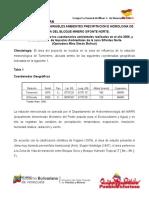 Informaciòn de Precipitacion y Hidrografia Del Sector Por Bloque