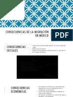 Consecuencias de La Migración en México