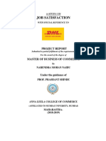 Job Satisfaction With reference to DHL Company