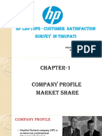 satisfaction survey on hp laptops