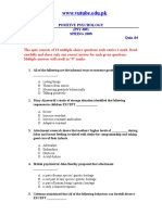 Positive Psychology - PSY409 Spring 2008 Quiz 04