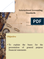IAS 01 Presentation of Financial Statements