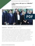"""El PP desautoriza a Díaz Ayuso y dice que va a """"dificultar"""" la investidura de Sánchez _ Madrid _ EL PAÍS"""