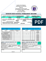 Form 137 Senior High