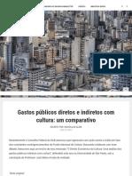Gastos Públicos Diretos e Indiretos Com Cultura_ Um Comparativo - IDEA