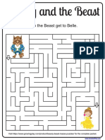 Beauty and the Beast Mazes and Puzzles Freebie