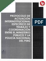 Protocolo de Trabajo –y Coordinación Entre El Ministerio Público y La Policía Nacional Del Perú Legis.pe .PDF