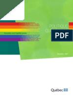 Politique québécoise de lutte contre l'homophobie