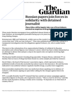 Russian papers join forces in solidarity with detained journalist | World news | The Guardian