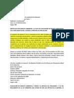 jurisprudencia impacto ambiental
