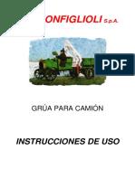Grua Para Camion Ing Bonfiglioli Manual de Uso