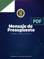Informe de Presupuesto 2019-2020