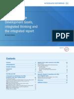 SDGs Integratedthinking and Integratedreport