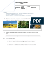 prueba ecosistemas ,adaptaciones 4° 2019