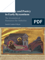 The Kontakia, Theology and Poetry in Early Byzantium
