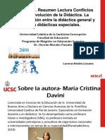 Trabajo 1. Resumen Lectura Conflictos en La Evolución de La Didáctica. Lorena Abella