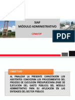 SIAF Modulo Administrativo 2019