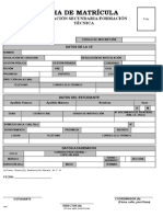 Ficha de Matrícula Sec Formacion Tecnica 2019