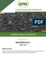 Modulo I Matematica I