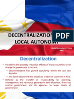 Decentralization and Local Autonomy