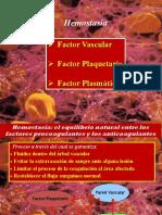 Hemostasia y Factor Vascular.