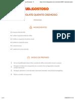 Receita de Chocolate Quente Cremoso, Enviada Por Fernanda - TudoGostoso